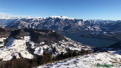 Vista verso Lago d'Iseo e Monte Guglielmo