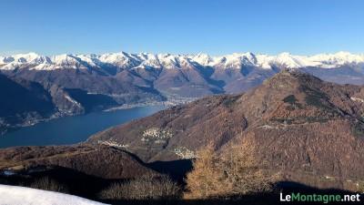 Vista su Legnoncino e Lago di Como