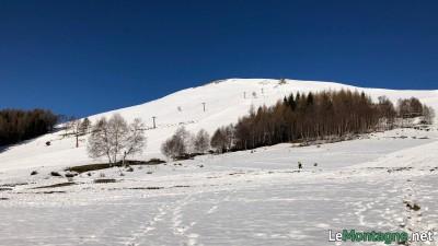 Monte Croce di Muggio visto dall'Alpe Giumello