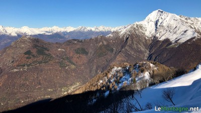 Vista su Legnoncino e Legnone