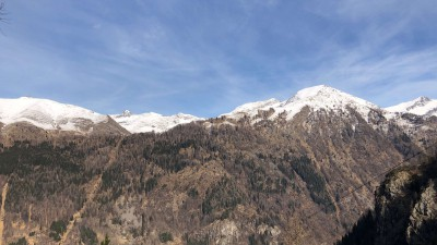 Vista su Corno Stella e il Monte Chierico