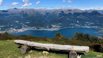 Panorama verso la parte nord del lago di Como