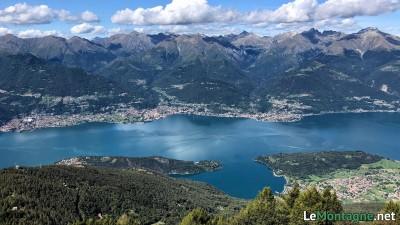 Panorama verso la parte centrale del lago di Como