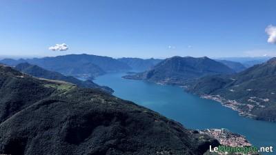 Panorama verso la parte sud del lago di Como