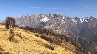 Monte Resegone dalla vetta del Magnodeno