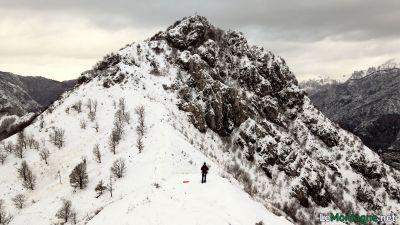 Monte Barro con la neve