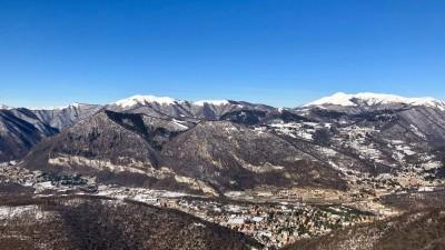 Vista verso Palanzone e San Primo