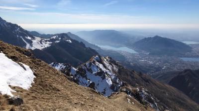 Panorama verso il Monte Barro