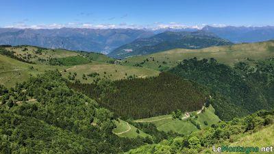 Vista verso l'alpe di Orimento