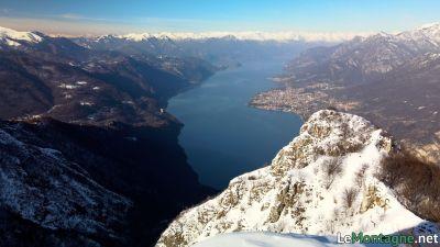 Monte Moregallo vista sul lago di Como