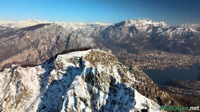 Monte Moregallo con alle spalle il Resegone