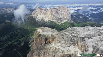 Panorama verso il Sassolungo