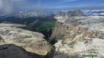 Panorama su Sassolungo e Catinaccio
