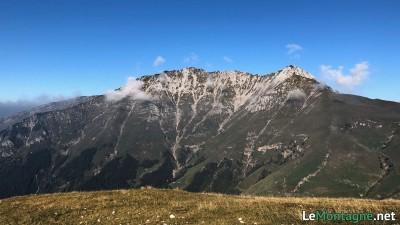 Panorama verso la cima di Menna