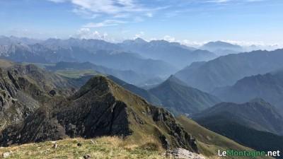 Panorama dalla vetta verso est