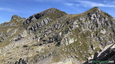 Panorama dalla vetta verso nord con Pizzo Varrone e Pizzo di Trona