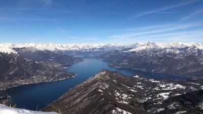 Monte San Primo in inverno