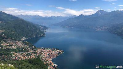 Vista sulla parte nord del Lago di Como