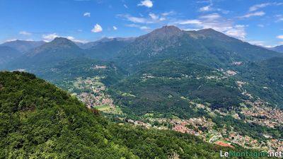 Vista su monte Grona e Bregagno