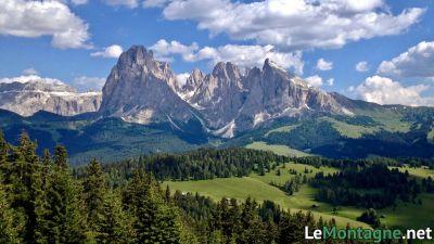 Sassolungo visto dall'Alpe di Siusi