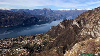 Vista verso il lago di Como