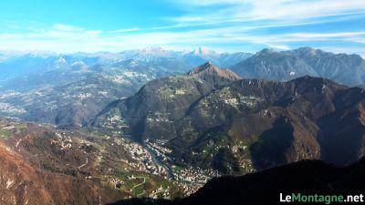 Vista verso monte Gioco, Menna , Arera e Alben