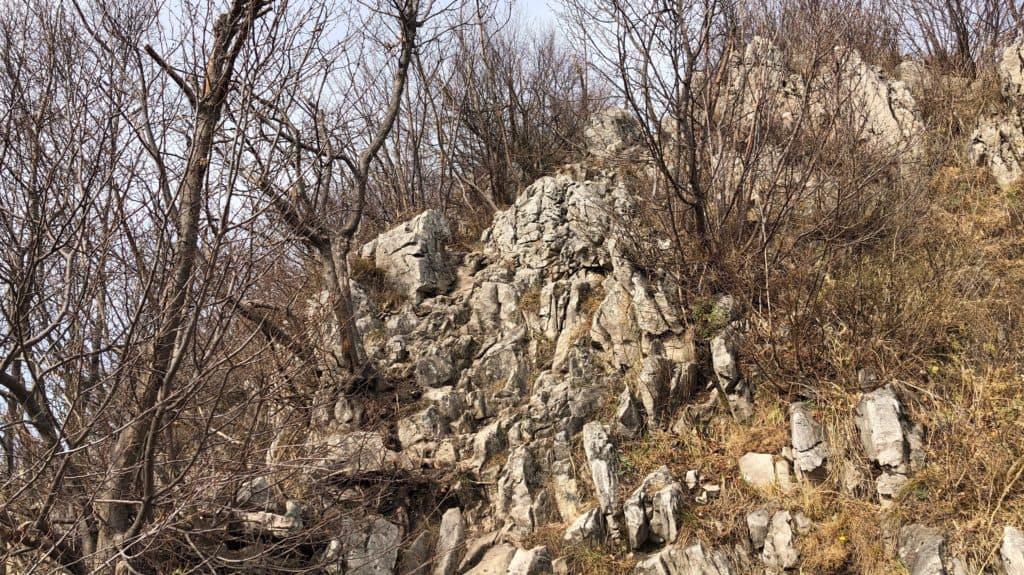 rocce sul monte barro