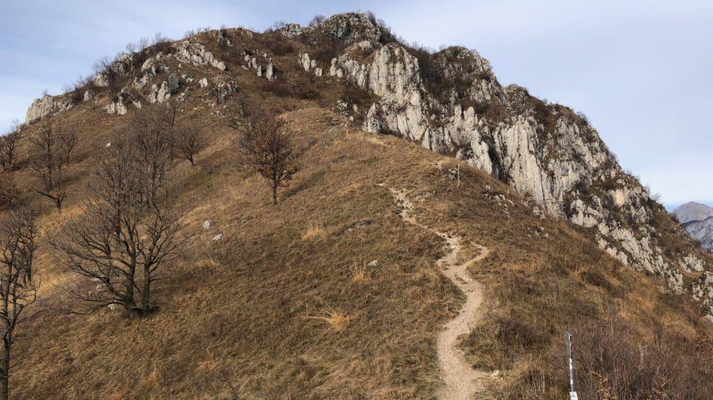 verso la vetta del monte barro