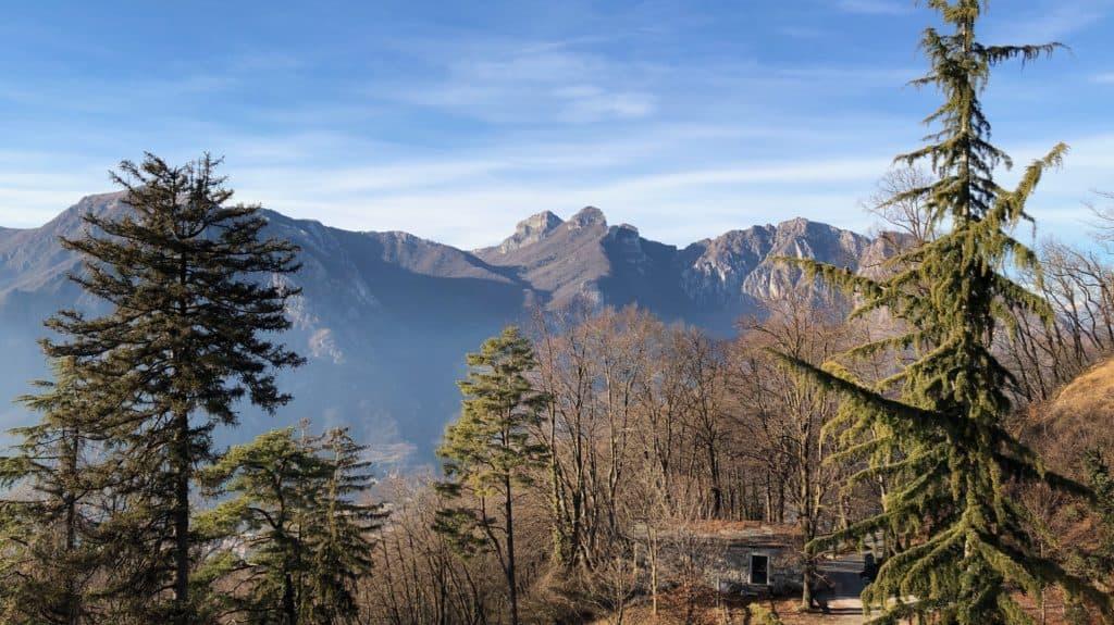 panorama dalla terrazza dell'eremo