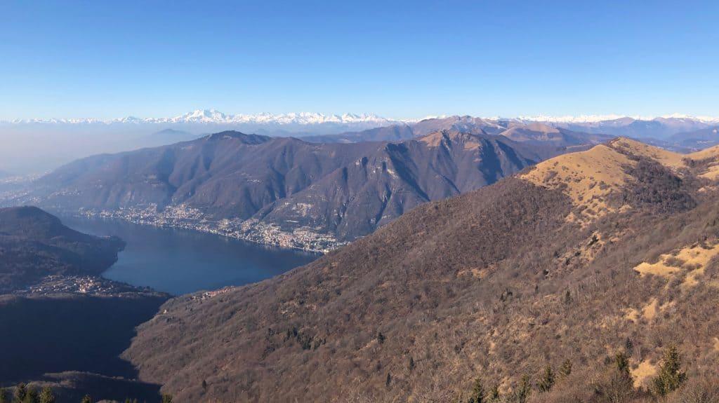 monte palanzone, vista su lago di como