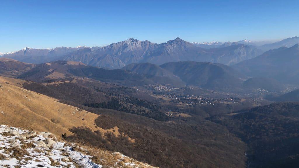 monte palanzone, vista sulle grigne