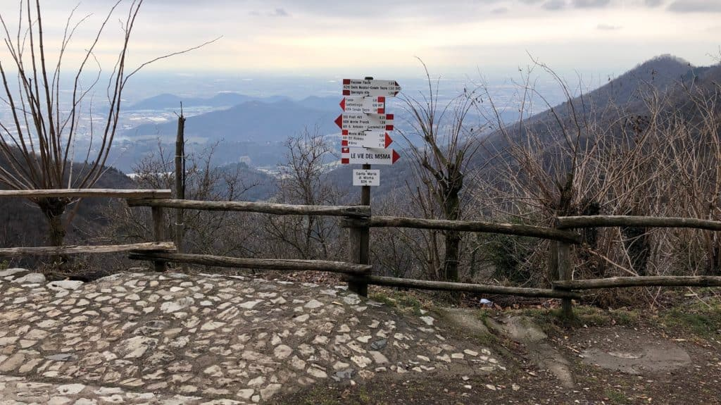 sentiero per le Vie del Misma