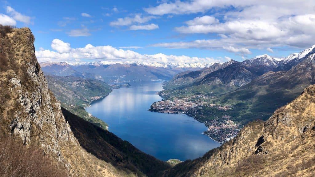 panorama sul lago di Lecco