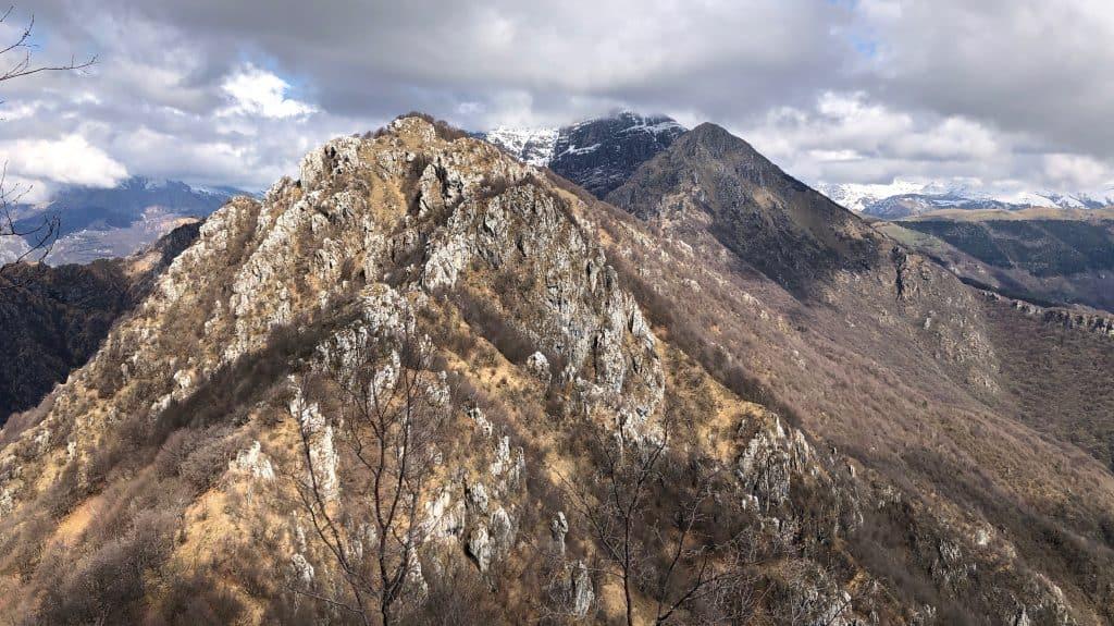 panorama dal monte ocone: corna camozzera