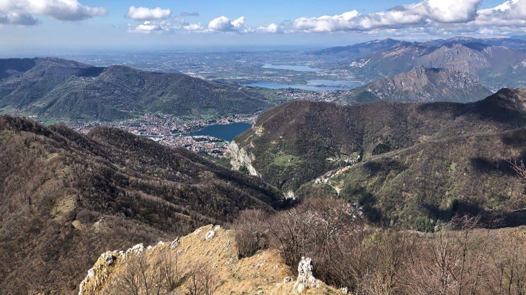panorama dal monte ocone verso le prealpi lecchesi