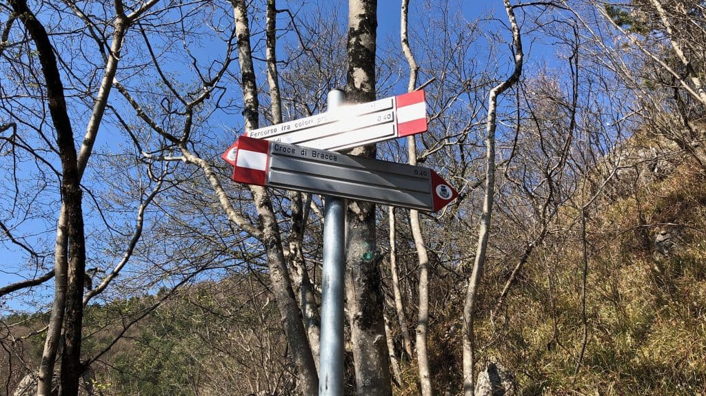 sentiero per croce di Bracca
