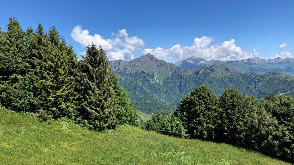 vista sul monte alben