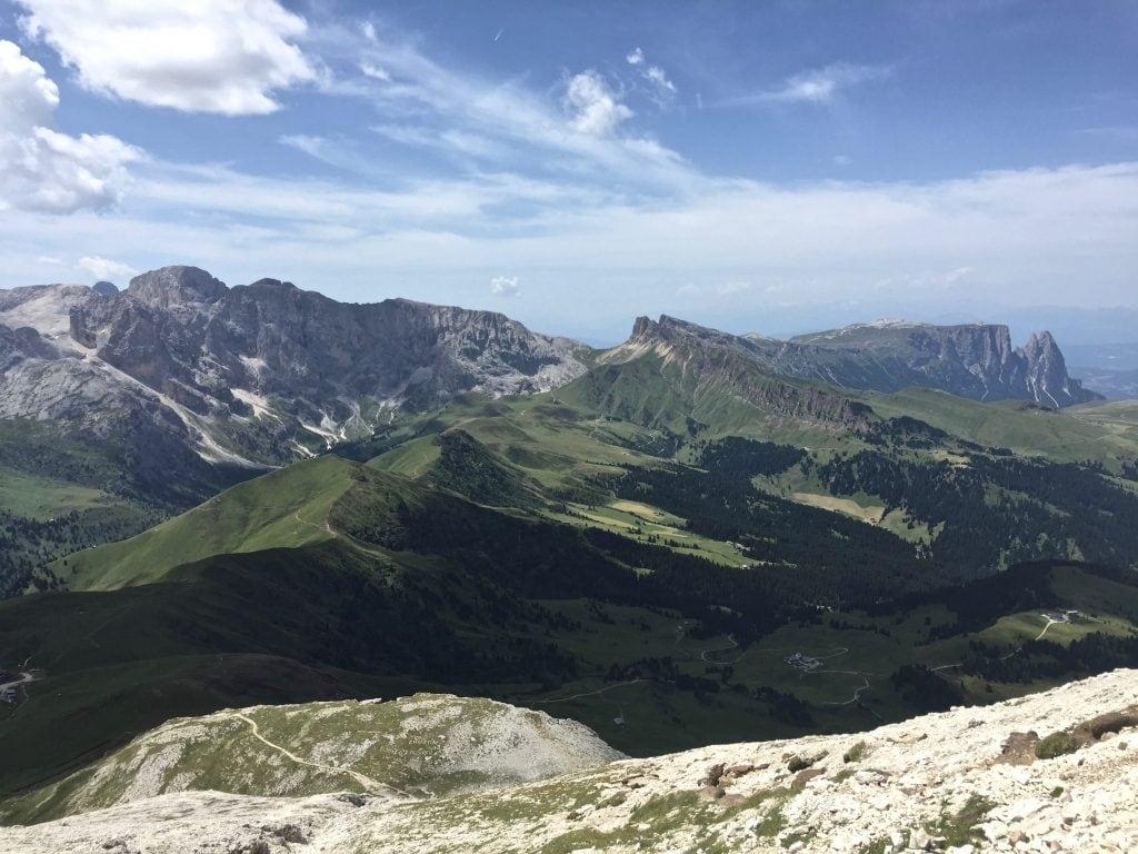 Vista su Alpe di Siusi, Sciliar, Catinaccio