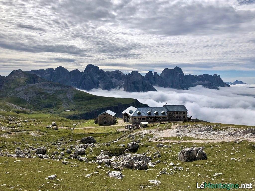 rifugio bolzano e gruppo del catinaccio