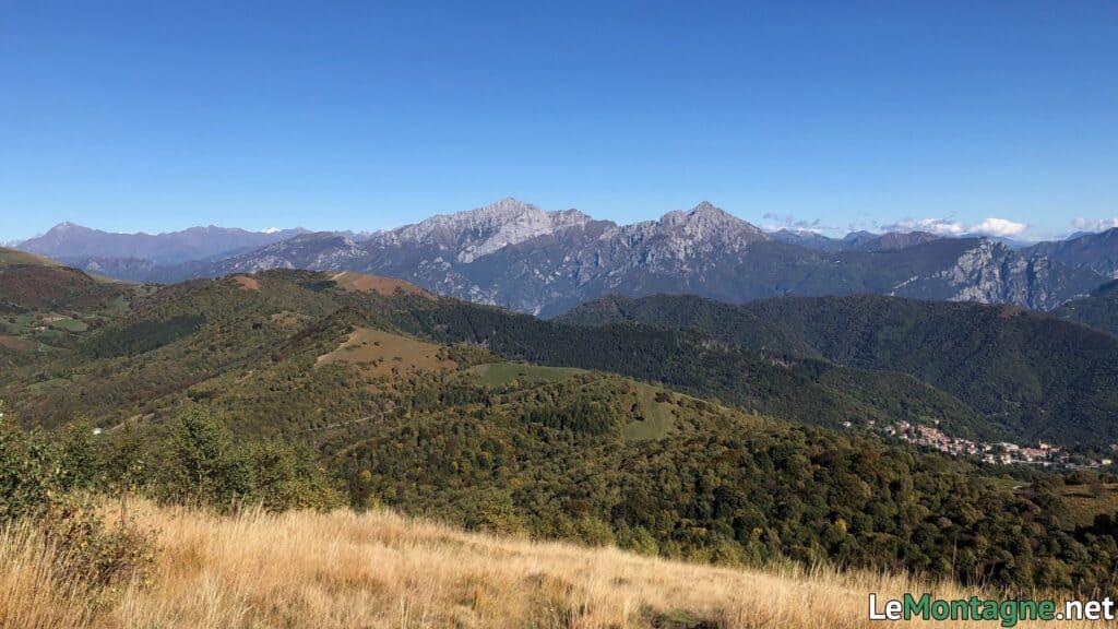 monte preaola, vista verso le Grigne